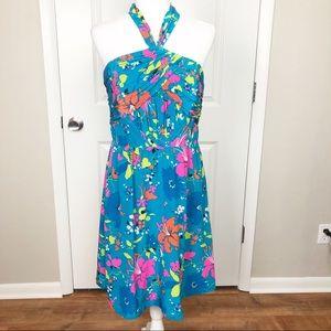 Shoshanna | Floral Print Silk Halter Dress 12 H020